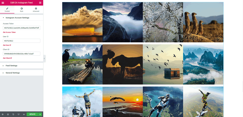Instagram Feed | Essential Addons for Elementor