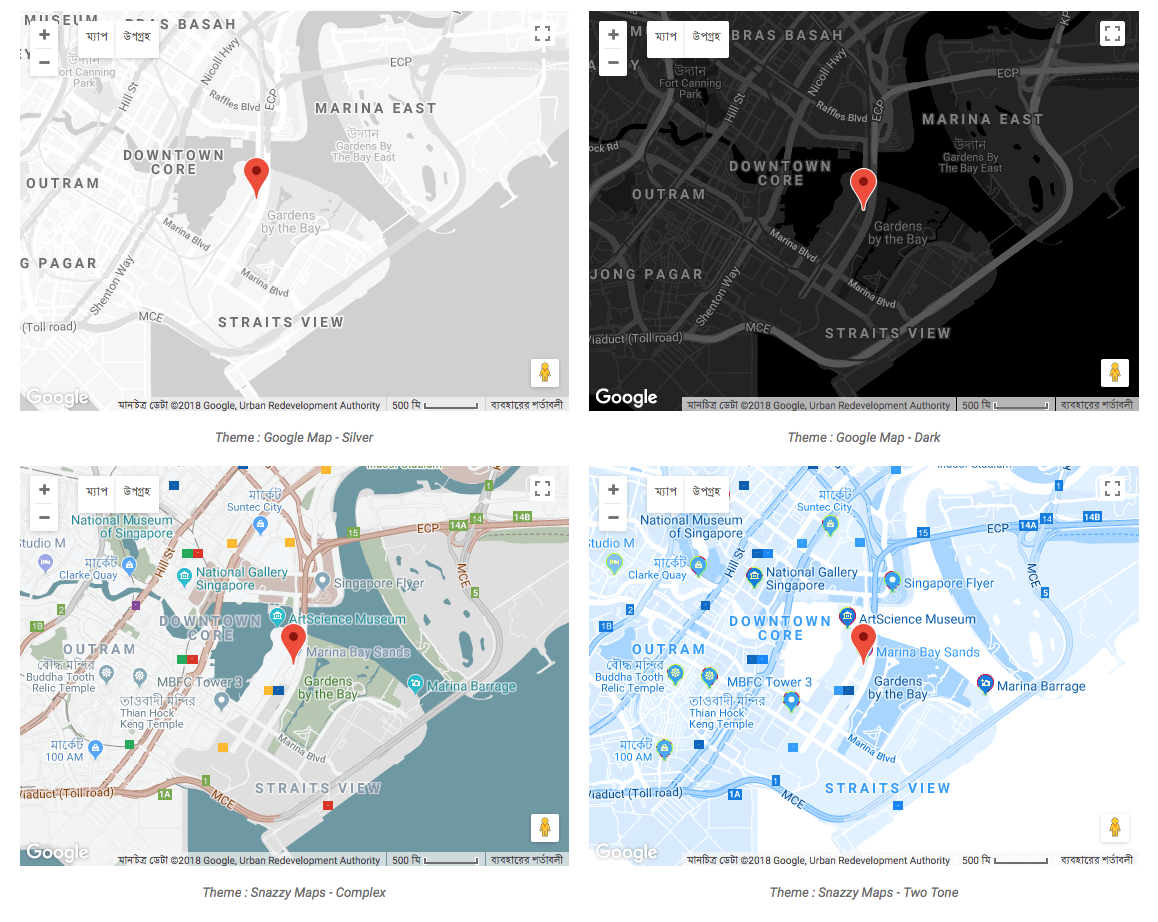 Advanced Google Map Essential Addons For Elementor - Google maps themes