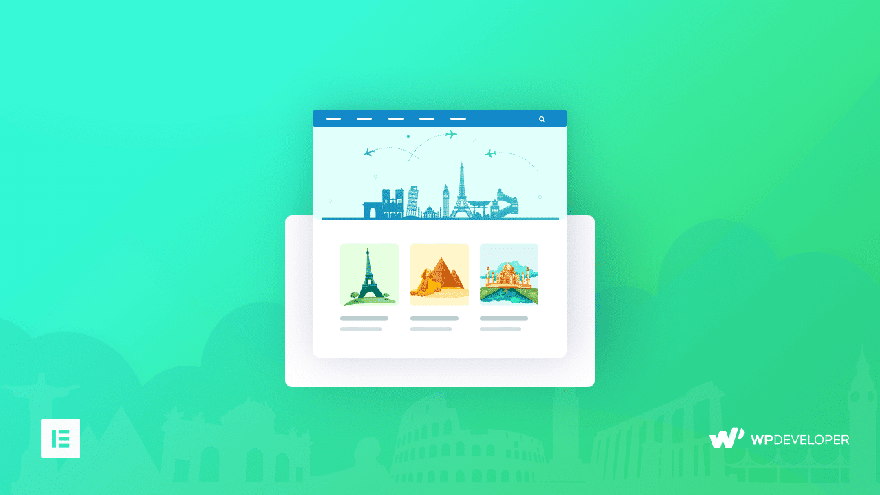 How To Create a Impressive Travel Landing Page Within Minutes Using Elementor 6