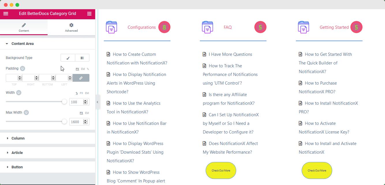 BetterDocs Category Grid