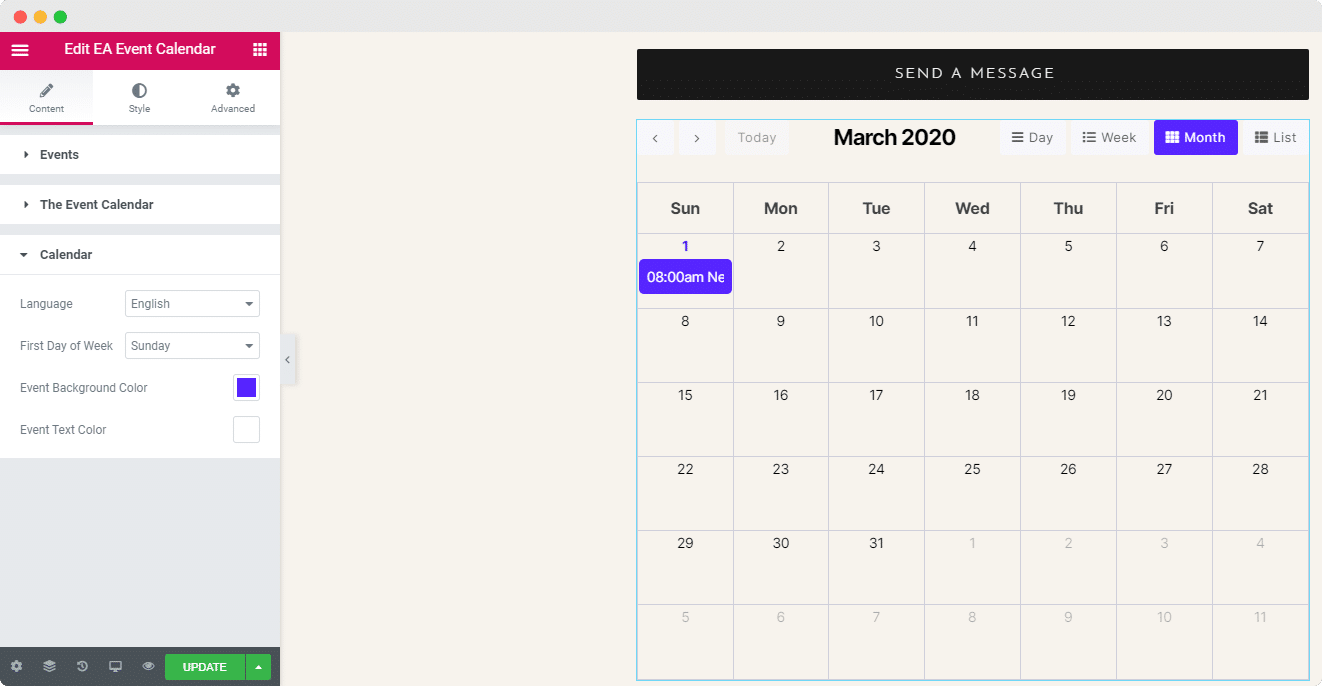 EA Event Calendar Integration: The Event Calendar WordPress Plugin 5