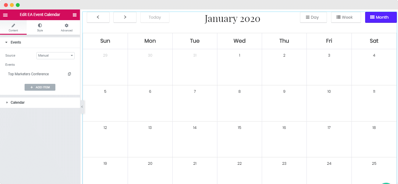 EA Event Calendar Integration: The Event Calendar WordPress Plugin 2