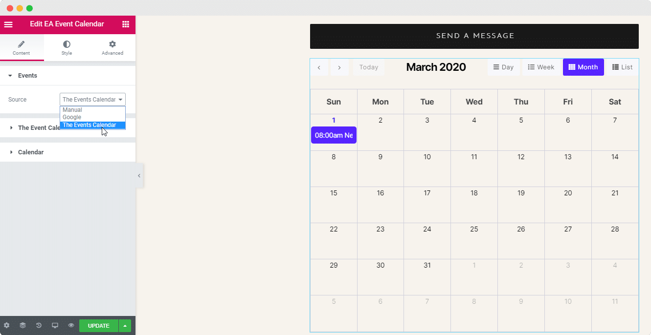 EA Event Calendar Integration: The Event Calendar WordPress Plugin 3